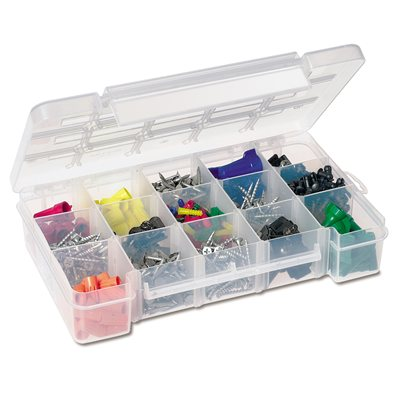 Storage Case, 15 Compartments 11 x 7 x 2-3/8, Clear (05805).  This item sold in carton quantities of 6.