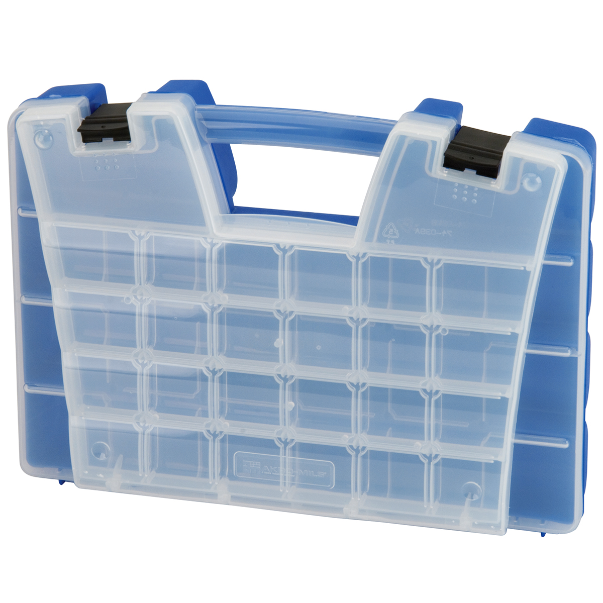 Item DISCONTINUED by Manufacturer.  Portable Organizer, 46 Compartment 15 x 11-5/16 x 3-1/4, Blue (06115).  This item sold in carton quantities of 1.