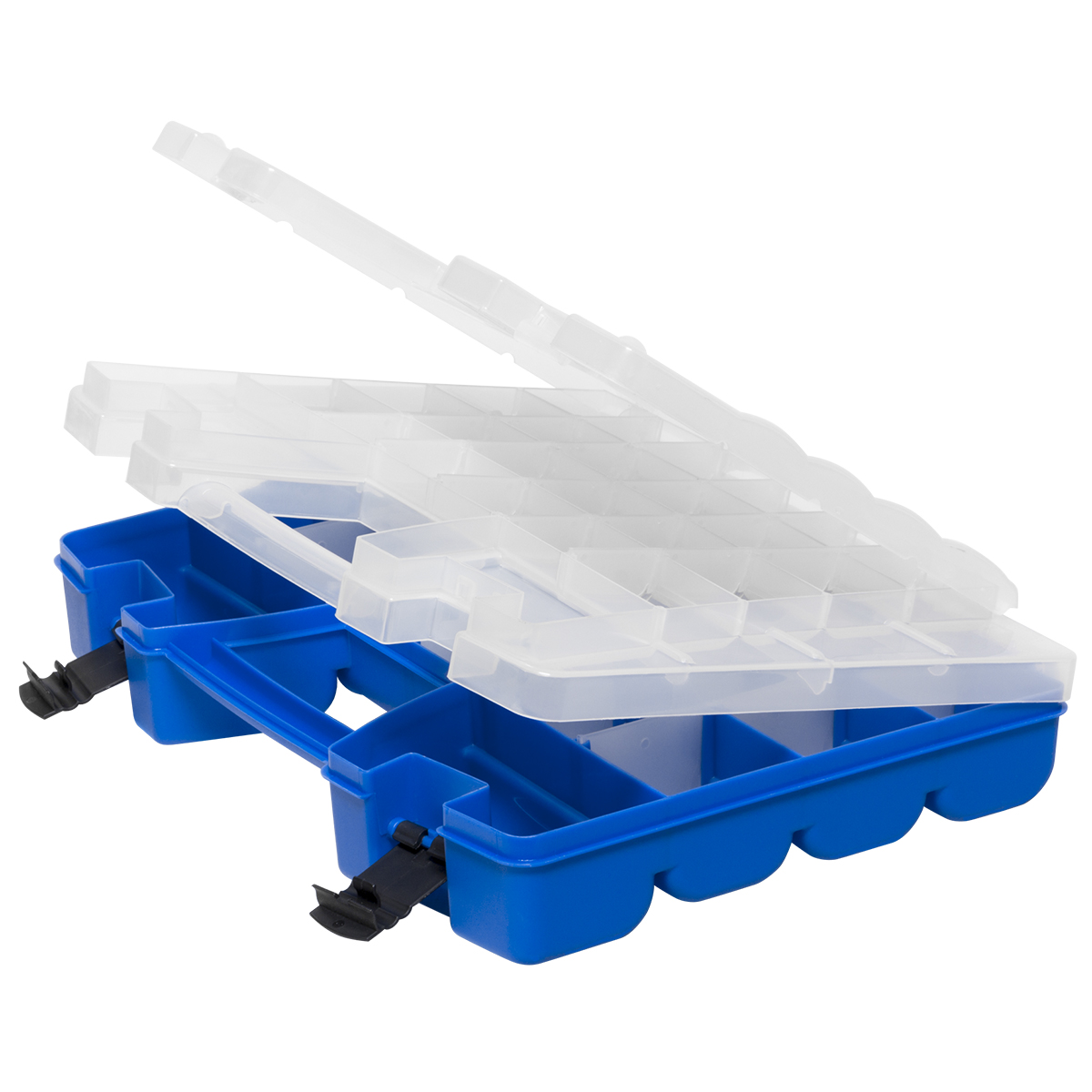 Item DISCONTINUED by Manufacturer.  Portable Organizer, 46 Compartment 15 x 11-5/16 x 3-1/4, Purple (06215CP4PK).  This item sold in carton quantities of 4.