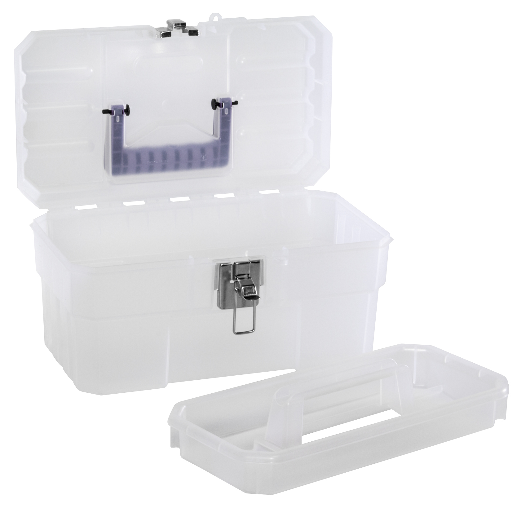 Art Box 14 x 8-1/8 x 8-1/8, Purple/Clear (09514CFT).  This item sold in carton quantities of 3.