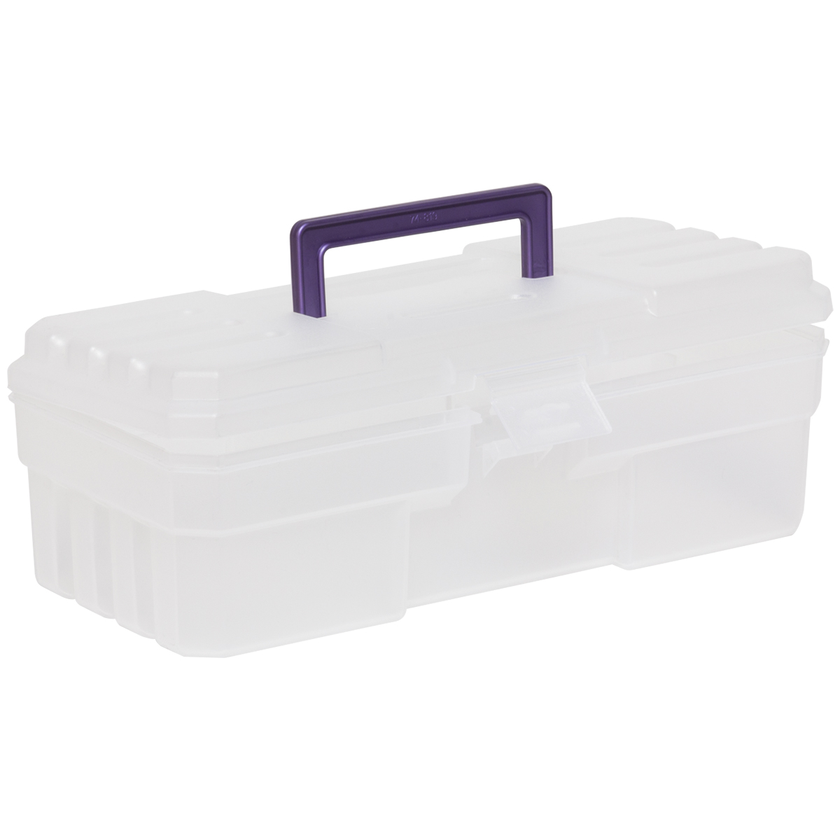 Craft Supply Box 6 x 12 x 4, Purple/Clear .  This item sold in carton quantities of 6.