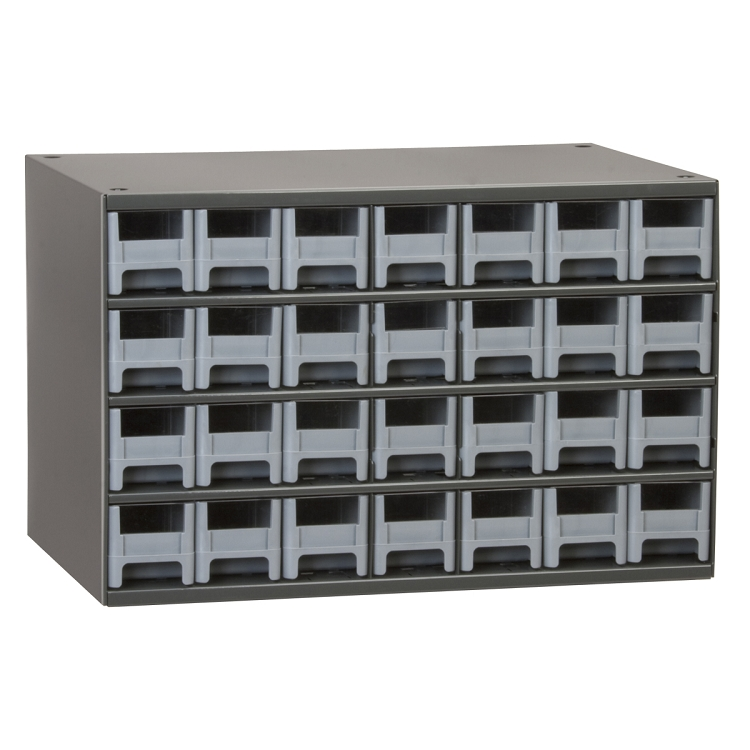 19-Series Steel Cabinet w/ 28 Drawers, Gray (19228).  This item sold in carton quantities of 1.