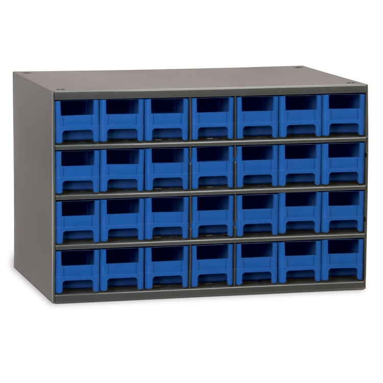19-Series Steel Cabinet w/ 28 Drawers, Blue (19228BLU).  This item sold in carton quantities of 1.