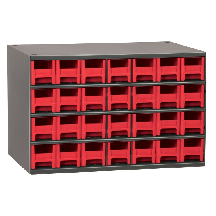 19-Series Steel Cabinet w/ 28 Drawers, Red (19228RED).  This item sold in carton quantities of 1.