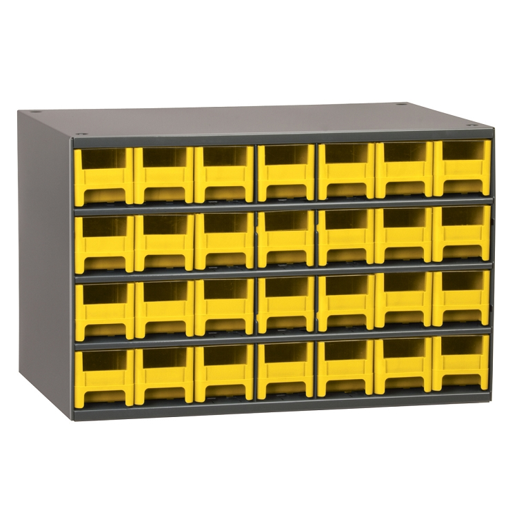 19-Series Steel Cabinet w/ 28 Drawers, Yellow (19228YEL).  This item sold in carton quantities of 1.