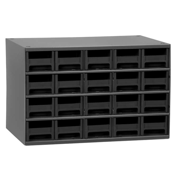 19-Series Steel Cabinet w/ 20 Drawers, Black (19320BLK).  This item sold in carton quantities of 1.