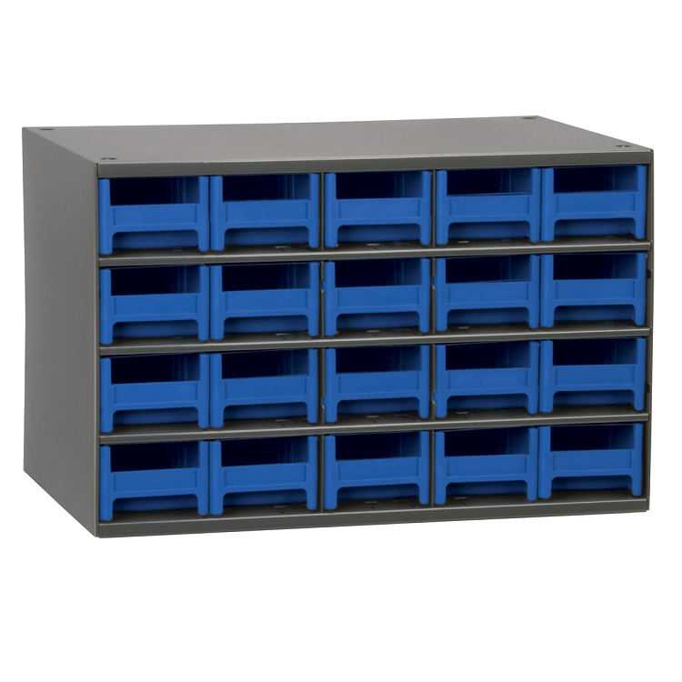 19-Series Steel Cabinet w/ 20 Drawers, Blue (19320BLU).  This item sold in carton quantities of 1.