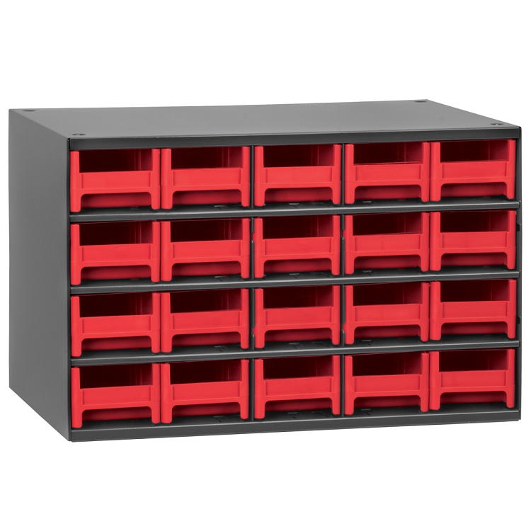 19-Series Steel Cabinet w/ 20 Drawers, Red (19320RED).  This item sold in carton quantities of 1.