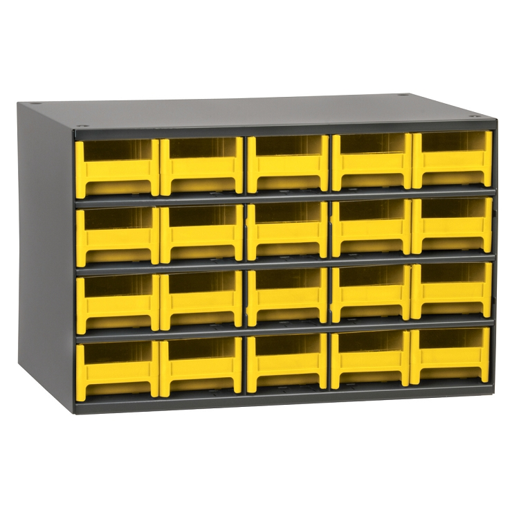 19-Series Steel Cabinet w/ 20 Drawers, Yellow (19320YEL).  This item sold in carton quantities of 1.