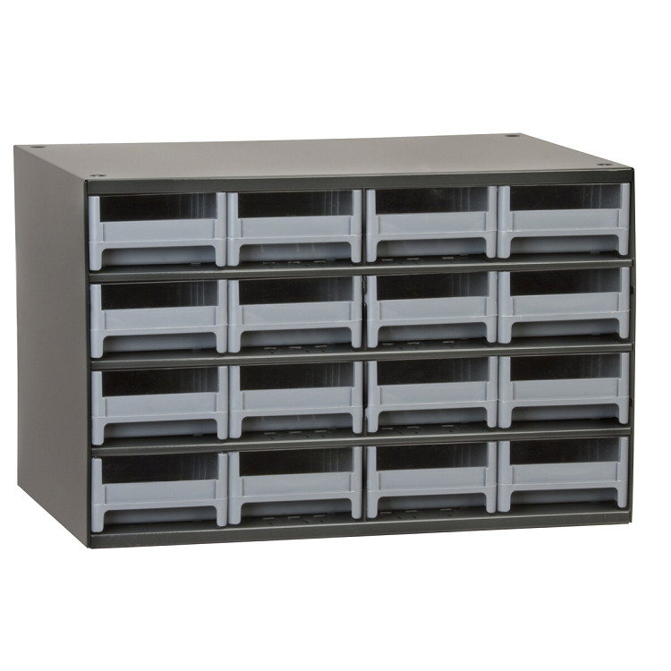 19-Series Steel Cabinet w/ 16 Drawers, Gray (19416).  This item sold in carton quantities of 1.
