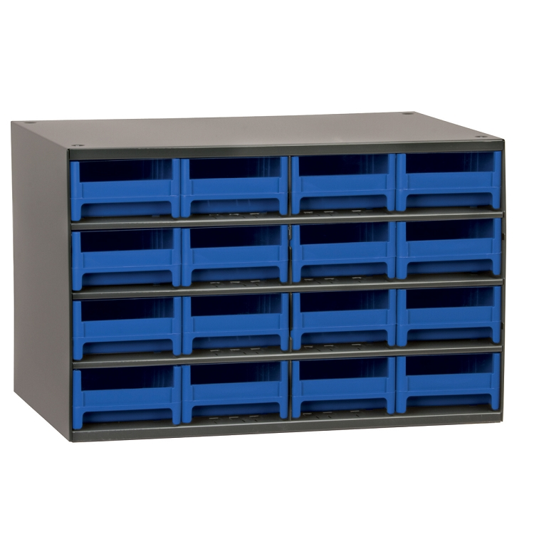 19-Series Steel Cabinet w/ 16 Drawers, Blue (19416BLU).  This item sold in carton quantities of 1.