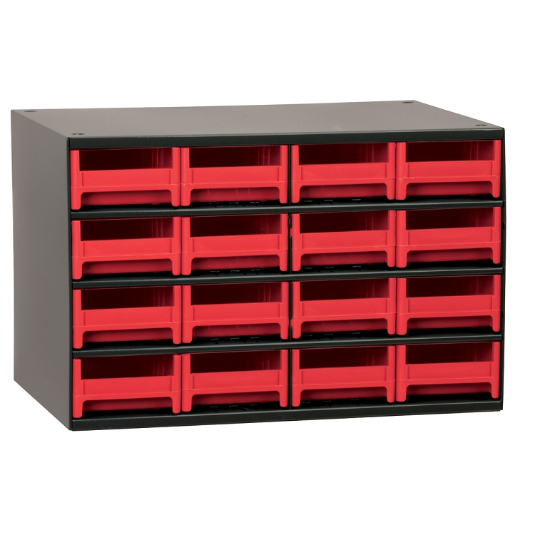 19-Series Steel Cabinet w/ 16 Drawers, Red (19416RED).  This item sold in carton quantities of 1.