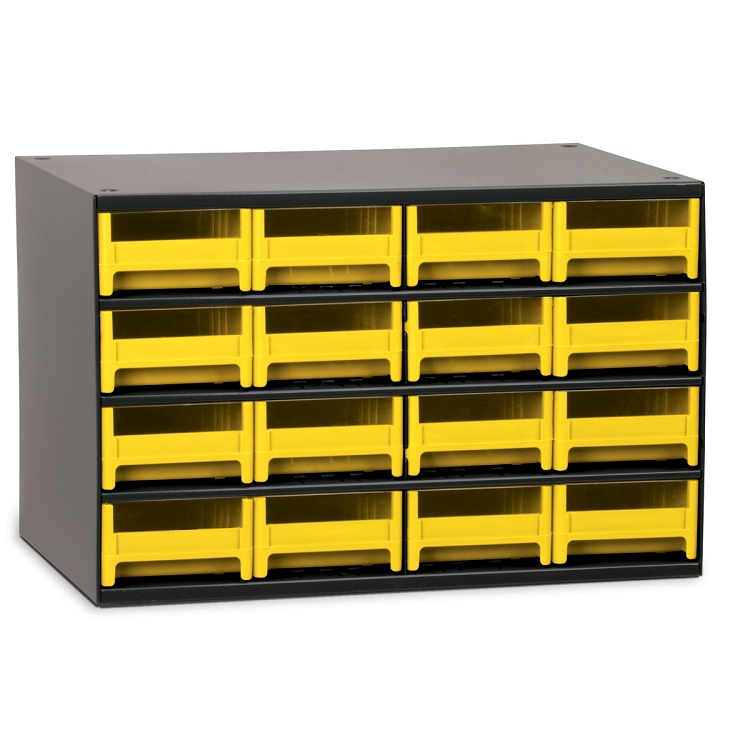 19-Series Steel Cabinet w/ 16 Drawers, Yellow (19416YEL).  This item sold in carton quantities of 1.