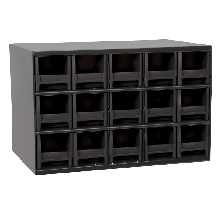 19-Series Steel Cabinet w/ 15 Drawers, Black (19715BLK).  This item sold in carton quantities of 1.