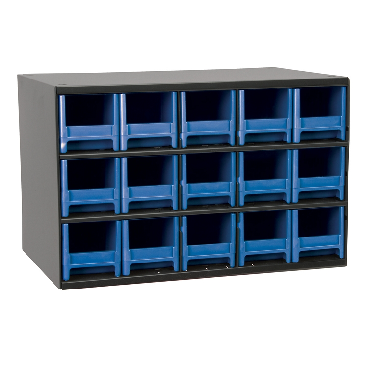 19-Series Steel Cabinet w/ 15 Drawers, Blue (19715BLU).  This item sold in carton quantities of 1.