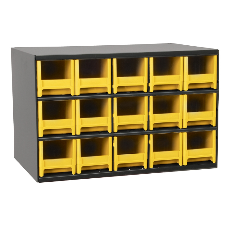 19-Series Steel Cabinet w/ 15 Drawers, Yellow (19715YEL).  This item sold in carton quantities of 1.