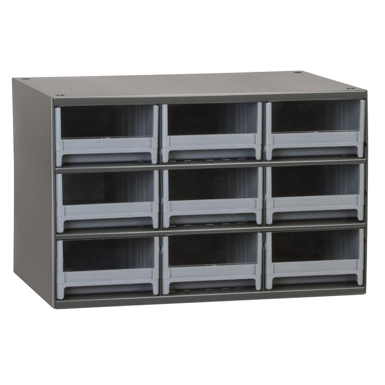 19-Series Steel Cabinet w/ 9 Drawers, Gray (19909).  This item sold in carton quantities of 1.