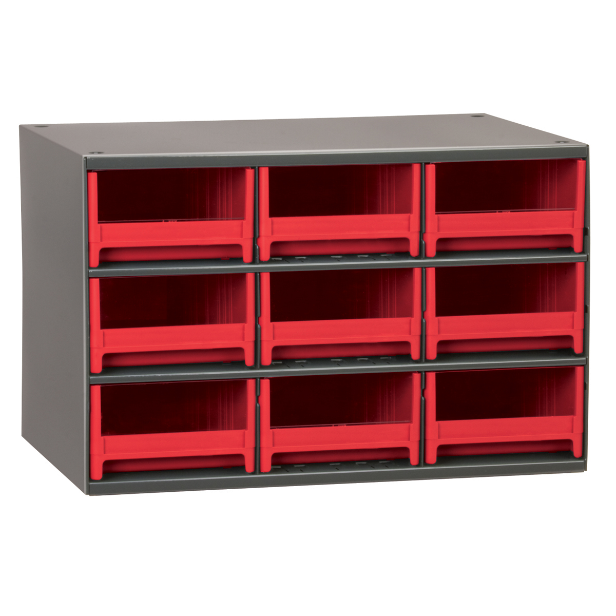 19-Series Steel Cabinet w/ 9 Drawers, Red (19909RED).  This item sold in carton quantities of 1.