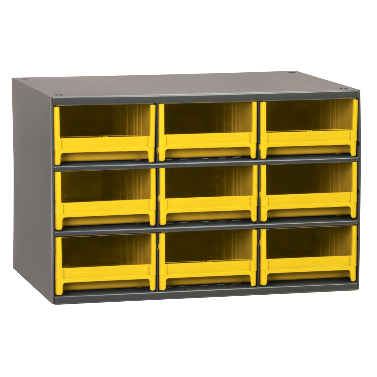 19-Series Steel Cabinet w/ 9 Drawers, Yellow (19909YEL).  This item sold in carton quantities of 1.
