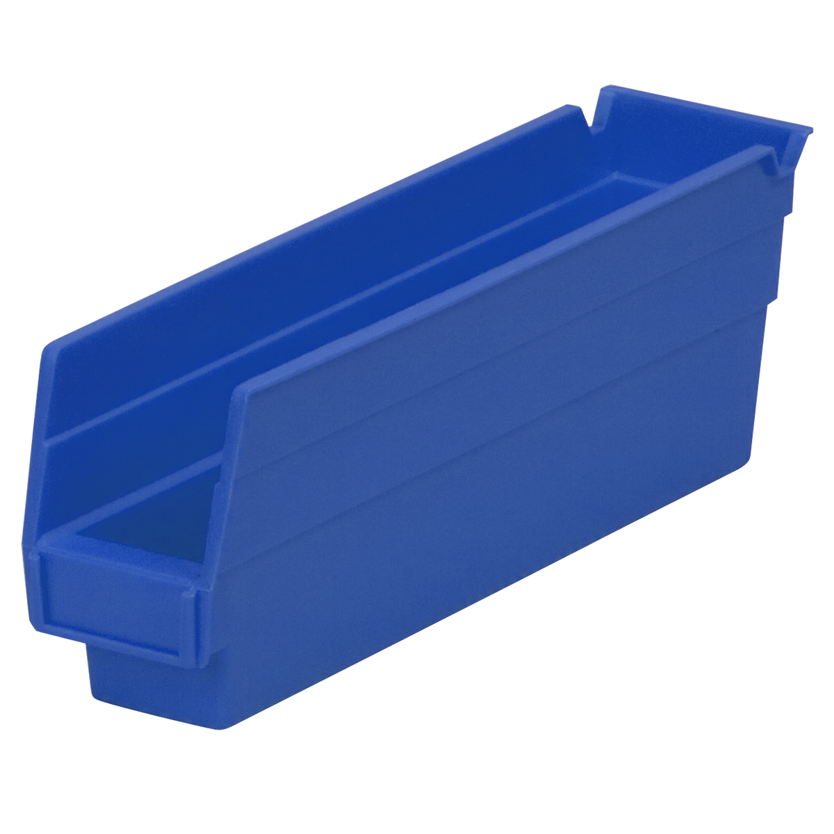 Shelf Bin 11-5/8 x 2-3/4 x 4, Blue (30110BLUE).  This item sold in carton quantities of 24.