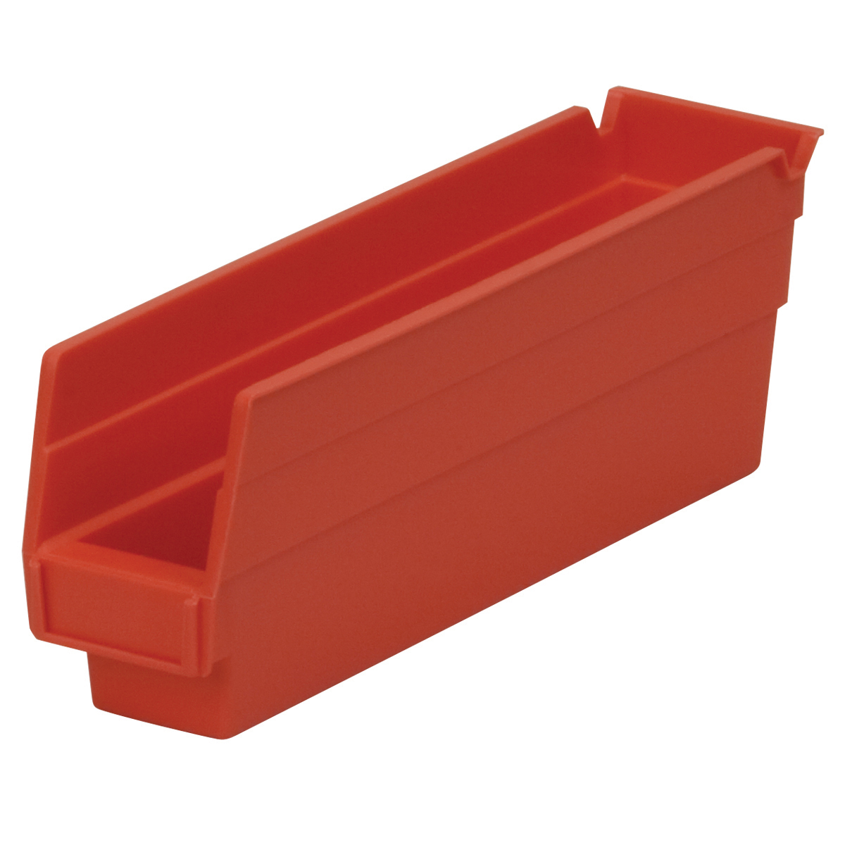 Shelf Bin 11-5/8 x 2-3/4 x 4, Red (30110RED).  This item sold in carton quantities of 24.