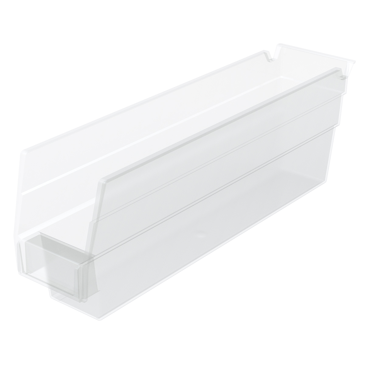Shelf Bin 11-5/8 x 2-3/4 x 4, Clear (30110SCLAR).  This item sold in carton quantities of 24.
