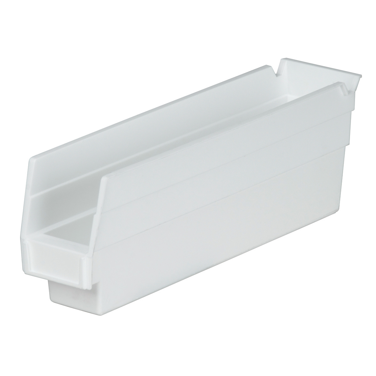 Shelf Bin 11-5/8 x 2-3/4 x 4, White (30110WHITE).  This item sold in carton quantities of 24.