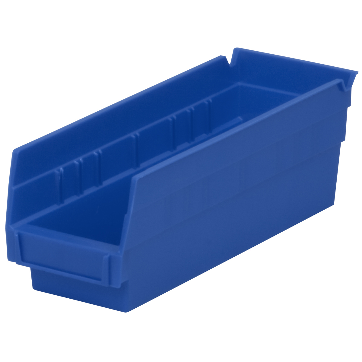 Shelf Bin 11-5/8 x 4-1/8 x 4, Blue (30120BLUE).  This item sold in carton quantities of 24.
