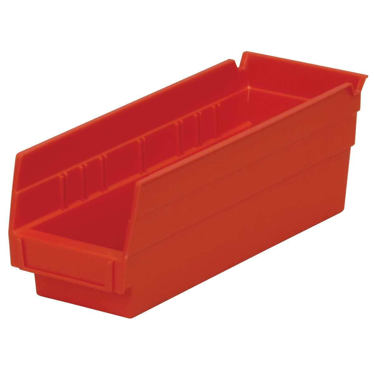Shelf Bin 11-5/8 x 4-1/8 x 4, Red (30120RED).  This item sold in carton quantities of 24.