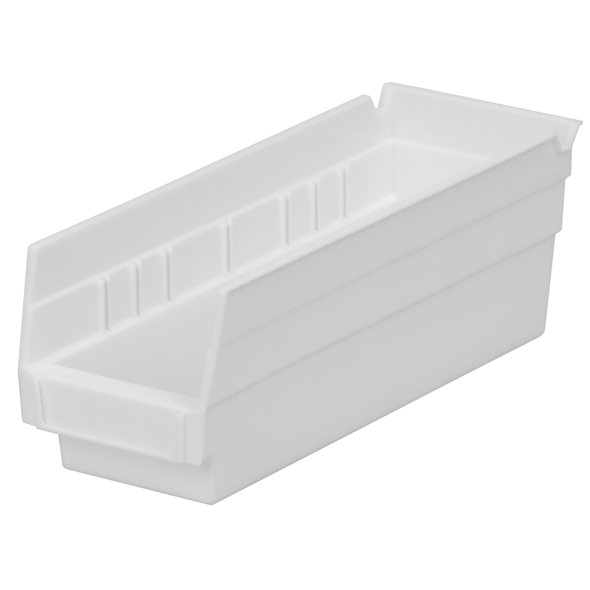 Shelf Bin 11-5/8 x 4-1/8 x 4, White (30120WHITE).  This item sold in carton quantities of 24.