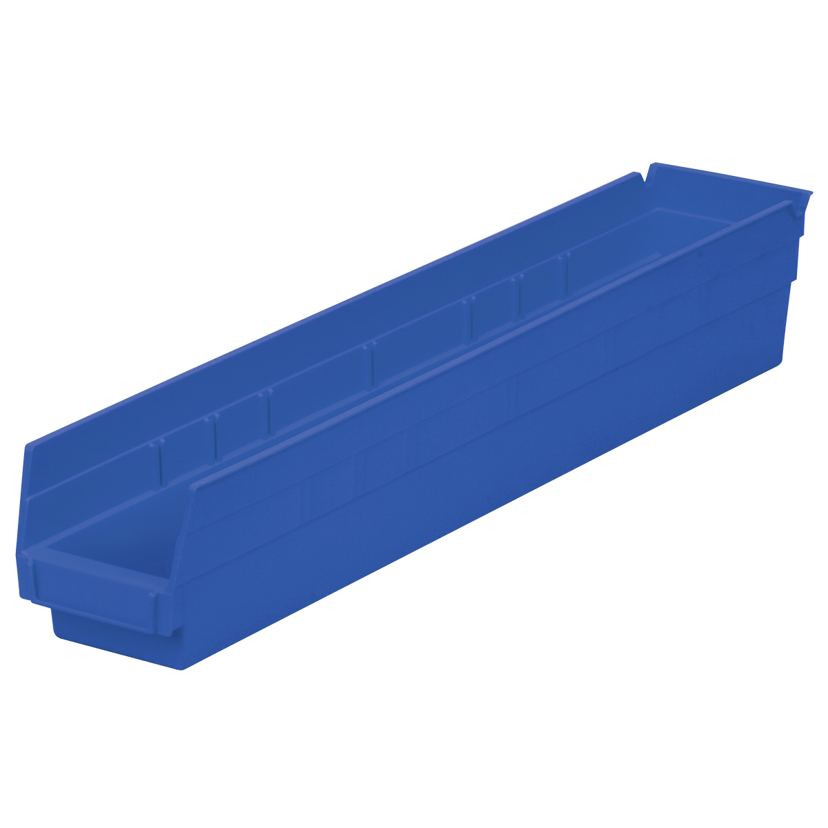 Shelf Bin 23-5/8 x 4-1/8 x 4, Blue (30124BLUE).  This item sold in carton quantities of 12.