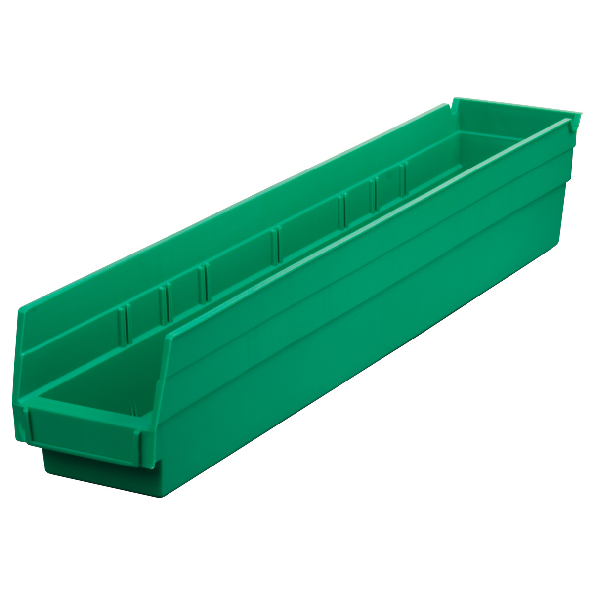 Shelf Bin 23-5/8 x 4-1/8 x 4, Green (30124GREEN).  This item sold in carton quantities of 12.
