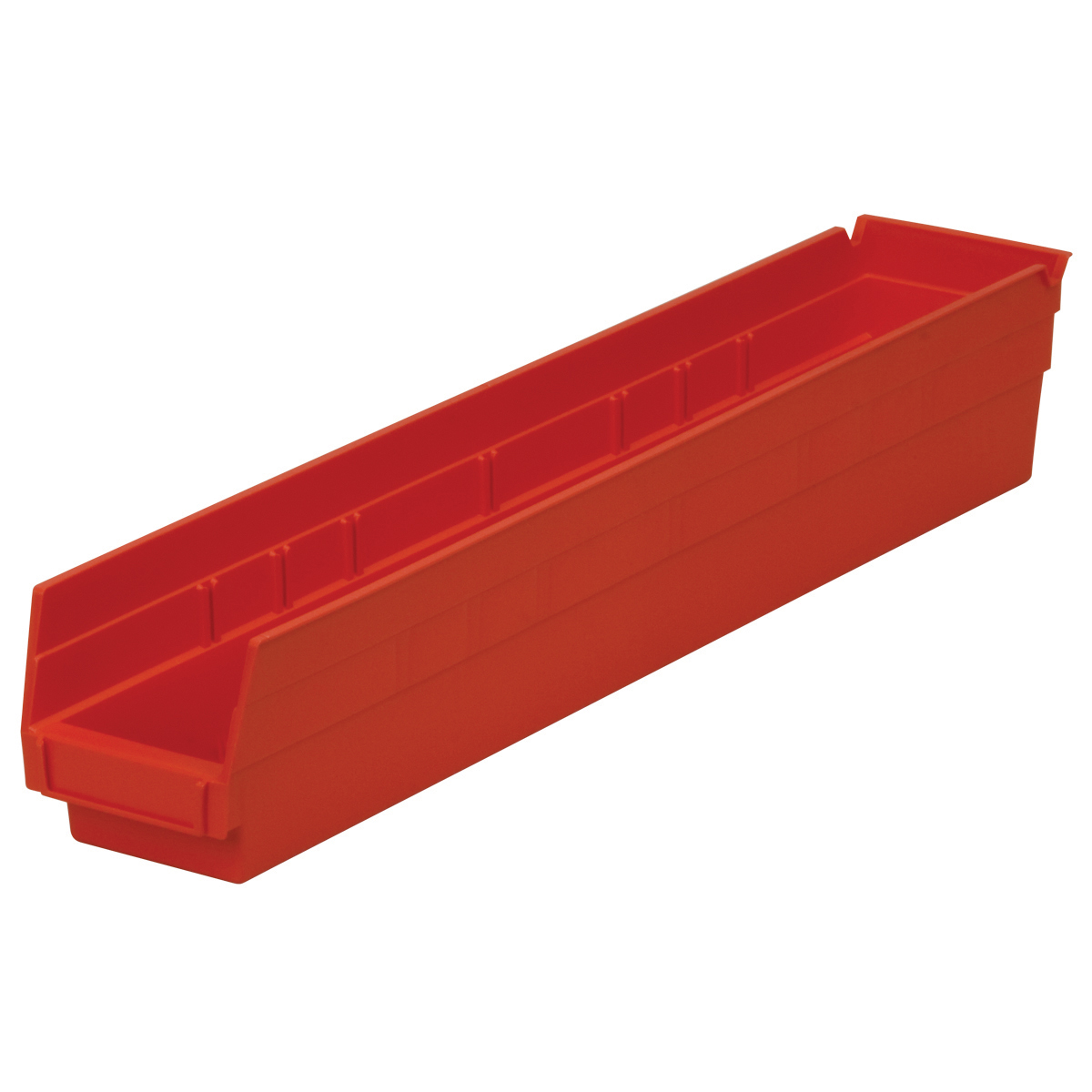 Shelf Bin 23-5/8 x 4-1/8 x 4, Red (30124RED).  This item sold in carton quantities of 12.