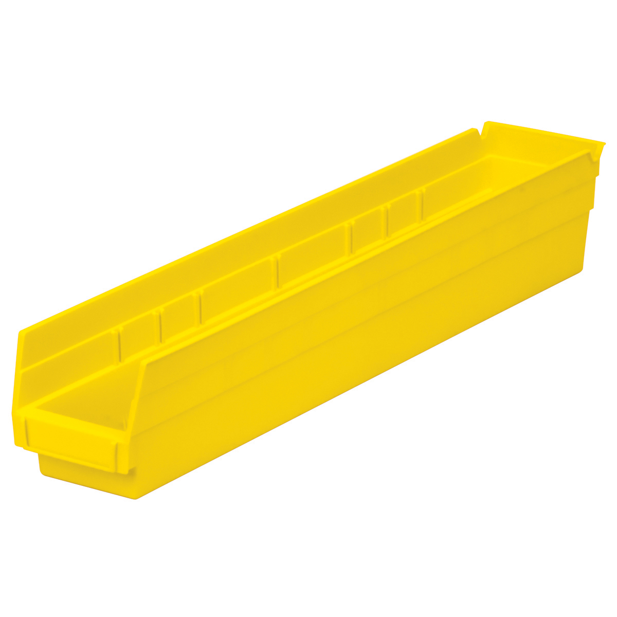 Shelf Bin 23-5/8 x 4-1/8 x 4, Yellow (30124YELLO).  This item sold in carton quantities of 12.