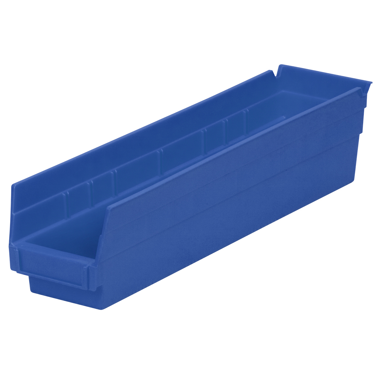 Shelf Bin 17-7/8 x 4-1/8 x 4, Blue (30128BLUE).  This item sold in carton quantities of 12.