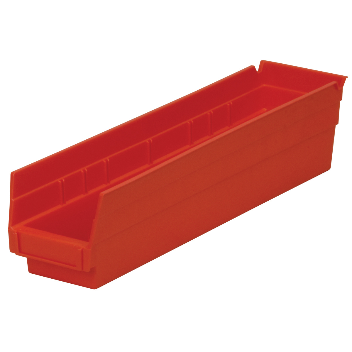 Shelf Bin 17-7/8 x 4-1/8 x 4, Red (30128RED).  This item sold in carton quantities of 12.