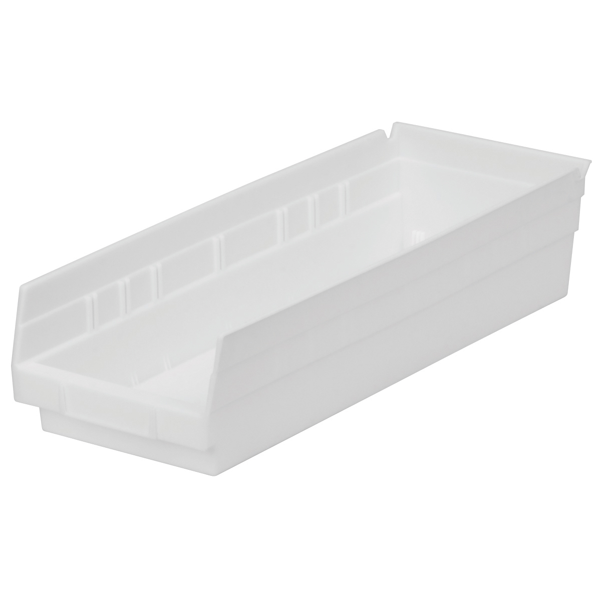 Shelf Bin 17-7/8 x 6-5/8 x 4, White (30138WHITE).  This item sold in carton quantities of 12.
