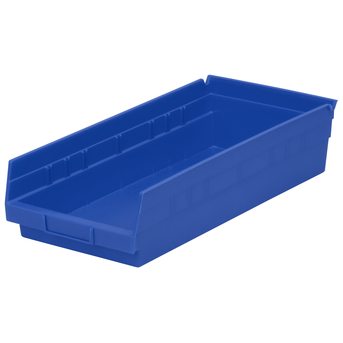 Shelf Bin 17-7/8 x 8-3/8 x 4, Blue (30158BLUE).  This item sold in carton quantities of 12.