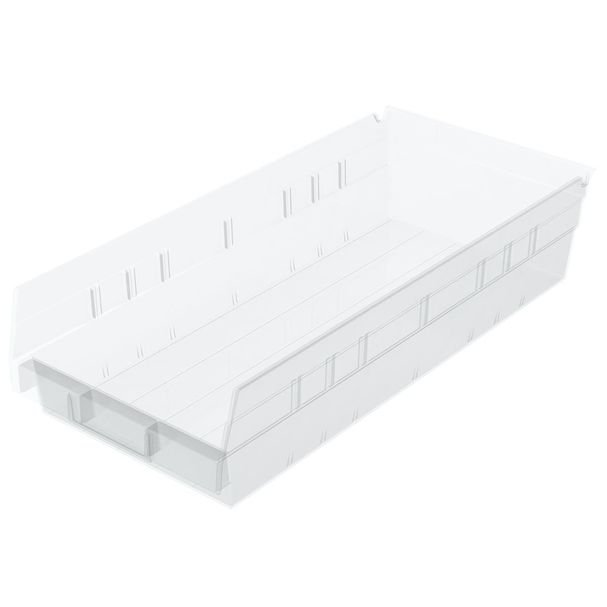 Shelf Bin 17-7/8 x 8-3/8 x 4, Clear (30158SCLAR).  This item sold in carton quantities of 12.