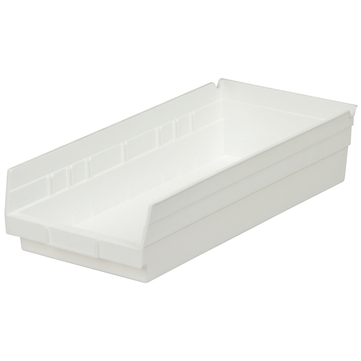 Shelf Bin 17-7/8 x 8-3/8 x 4, White (30158WHITE).  This item sold in carton quantities of 12.