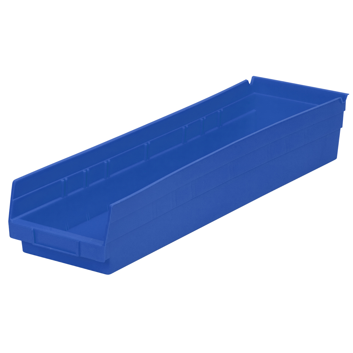 Shelf Bin 23-5/8 x 6-5/8 x 4, Blue (30164BLUE).  This item sold in carton quantities of 6.