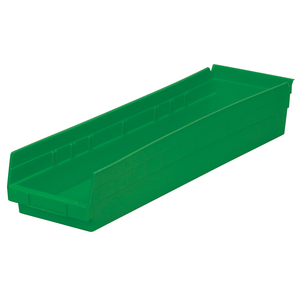 Shelf Bin 23-5/8 x 6-5/8 x 4, Green (30164GREEN).  This item sold in carton quantities of 6.