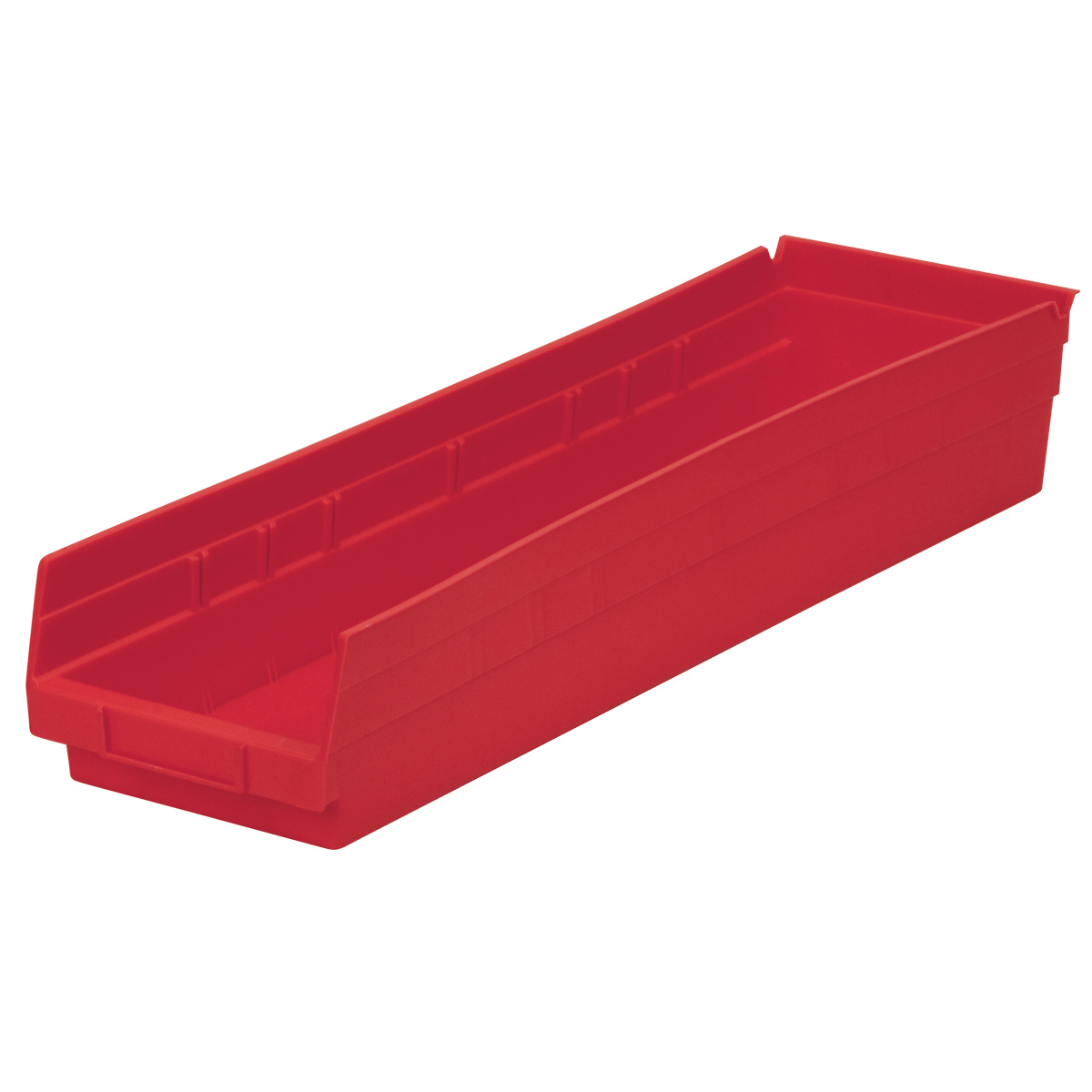 Shelf Bin 23-5/8 x 6-5/8 x 4, Red (30164RED).  This item sold in carton quantities of 6.
