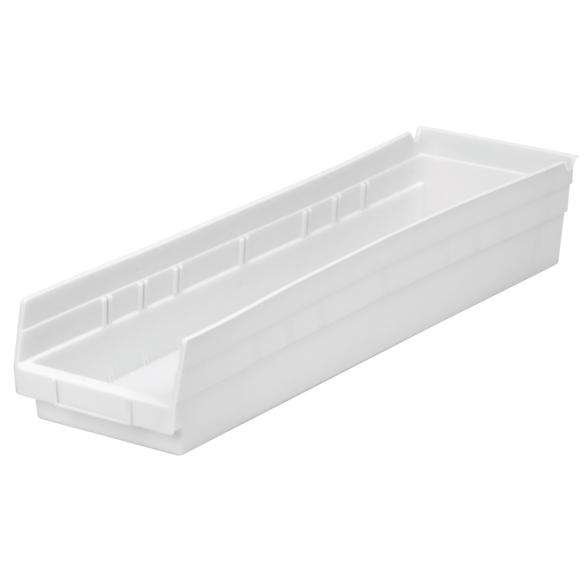 Shelf Bin 23-5/8 x 6-5/8 x 4, White (30164WHITE).  This item sold in carton quantities of 6.