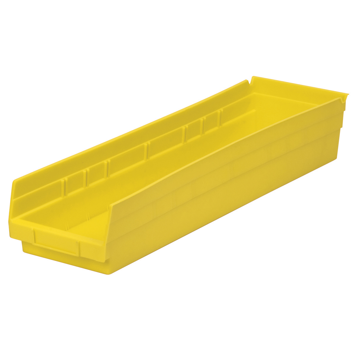 Shelf Bin 23-5/8 x 6-5/8 x 4, Yellow (30164YELLO).  This item sold in carton quantities of 6.