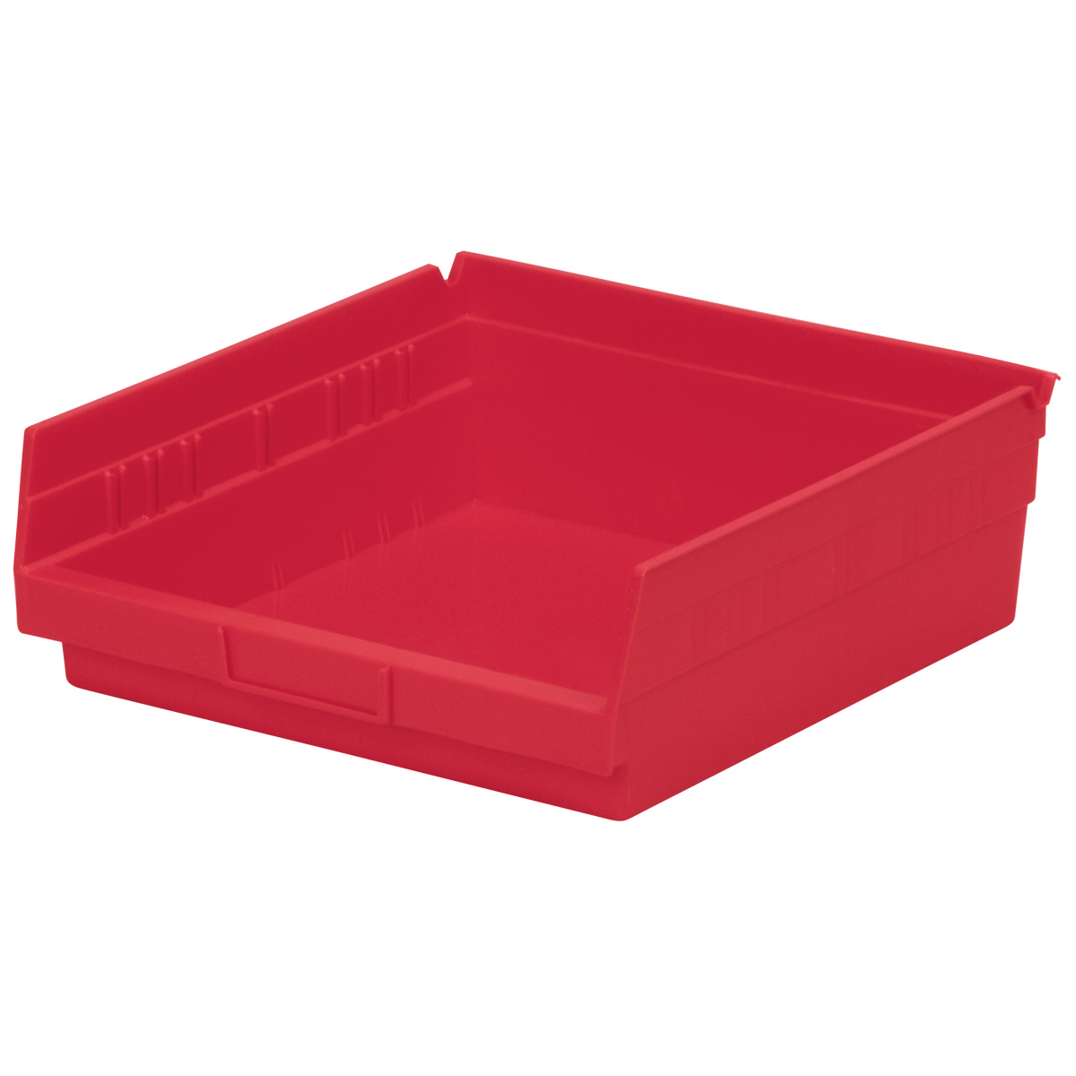 Shelf Bin 11-5/8 x 11-1/8 x 4, Red (30170RED).  This item sold in carton quantities of 12.