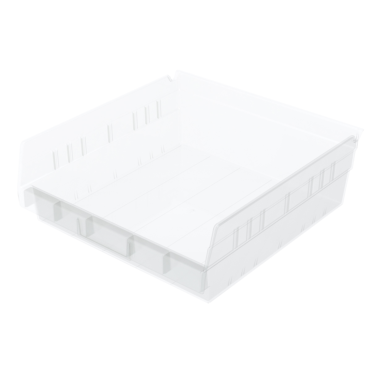 Shelf Bin 11-5/8 x 11-1/8 x 4, Clear (30170SCLAR).  This item sold in carton quantities of 12.