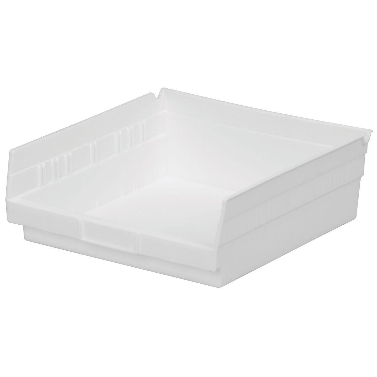 Shelf Bin 11-5/8 x 11-1/8 x 4, White (30170WHITE).  This item sold in carton quantities of 12.