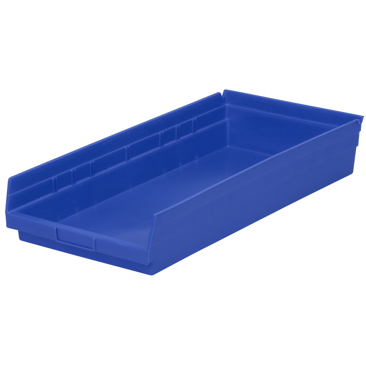 Shelf Bin 23-5/8 x 11-1/8 x 4, Blue (30174BLUE).  This item sold in carton quantities of 6.