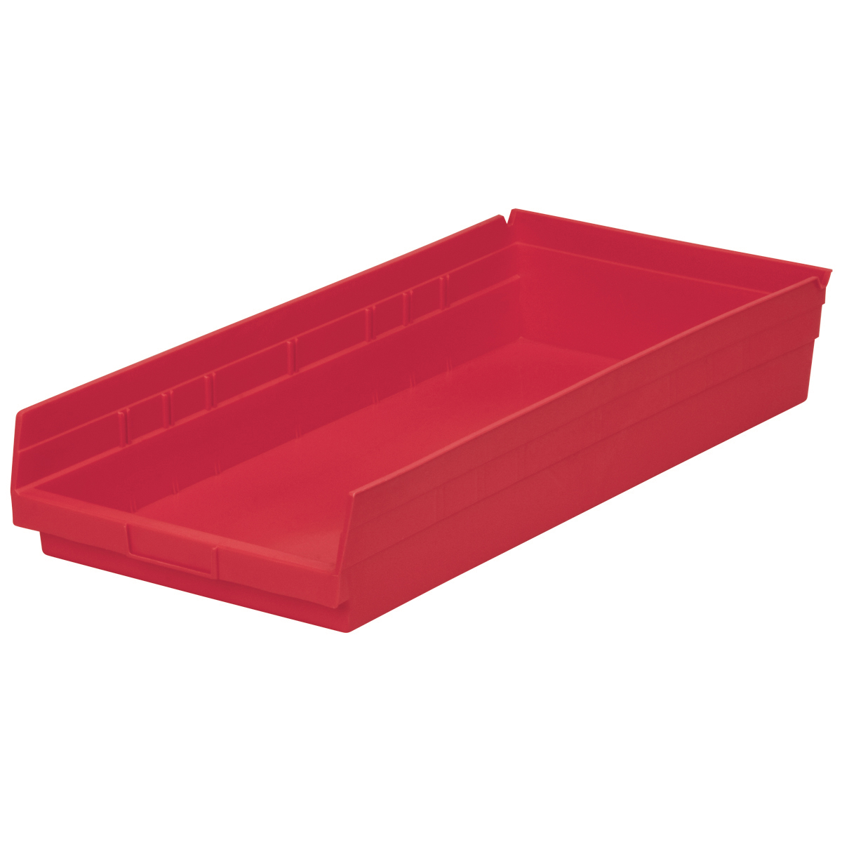 Shelf Bin 23-5/8 x 11-1/8 x 4, Red (30174RED).  This item sold in carton quantities of 6.